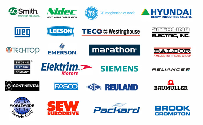 Brands who have used our motor repair service.