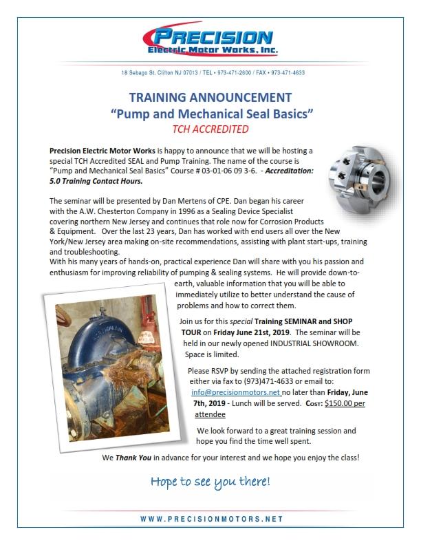 Electric Motor Repair NJ - Precision Electric Motor Works, Inc